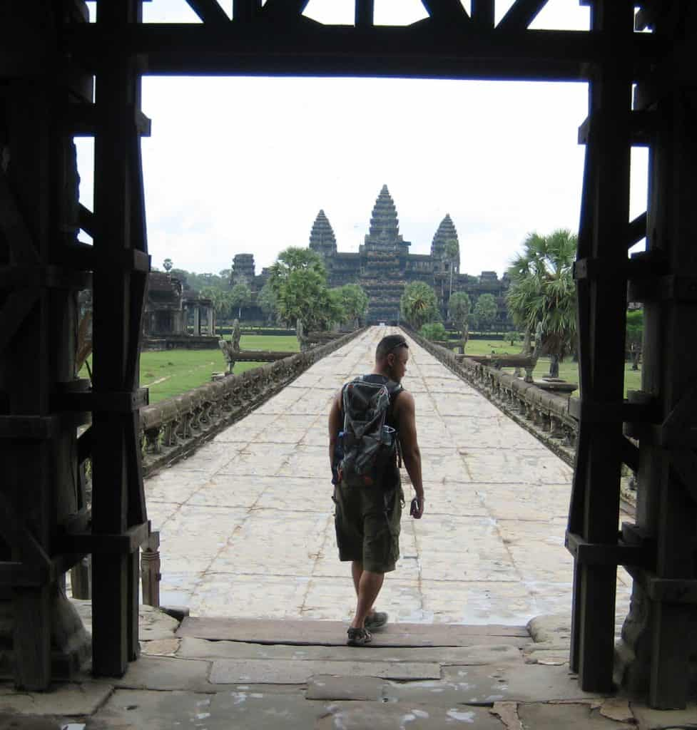Marco Sison at Angor Wat, Cambodia