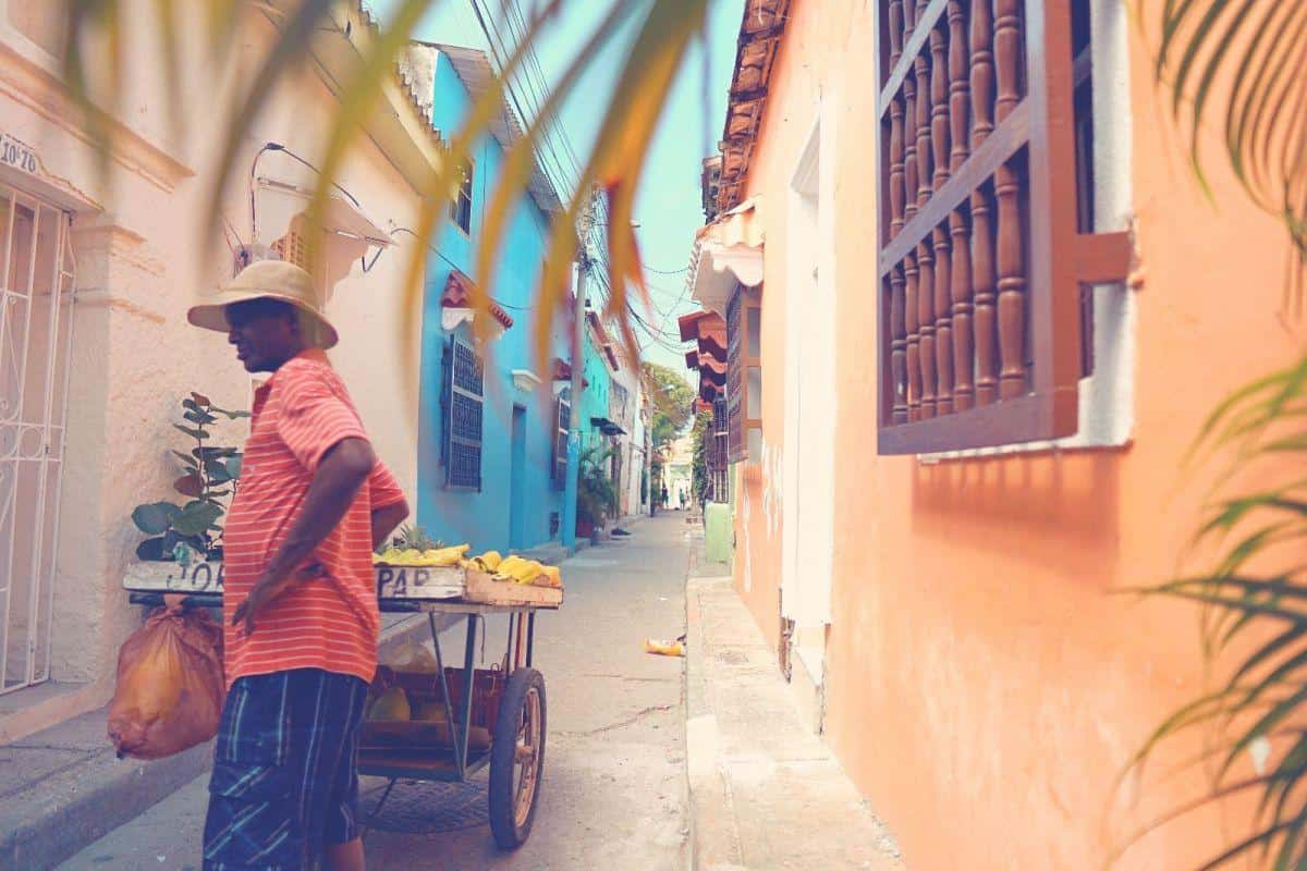 The rainbow hued streets of Cartagena Colombia