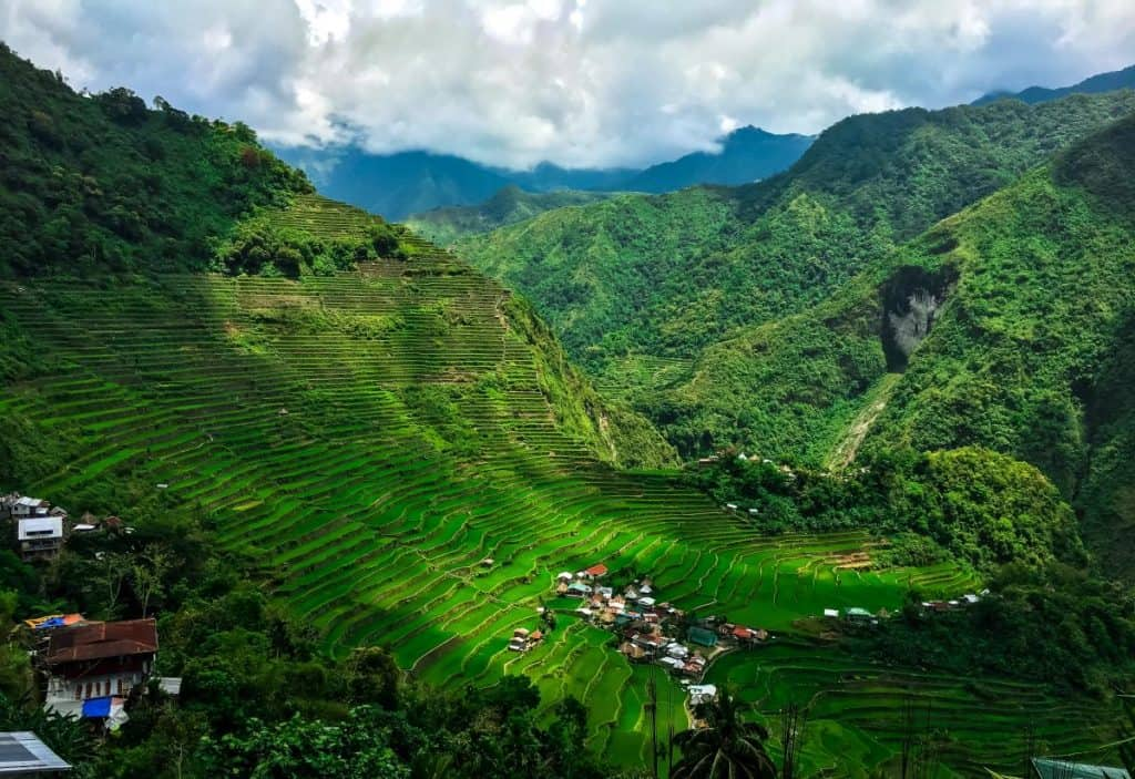View of the Banaue Rice terraces in the Philippines
