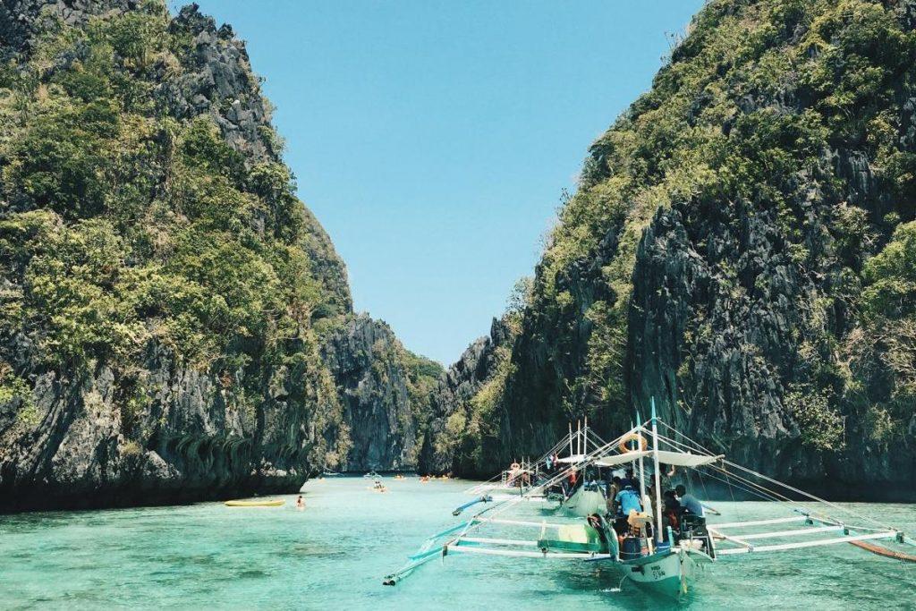 Retire on a boat drifting past El Nido Palawan Philippines