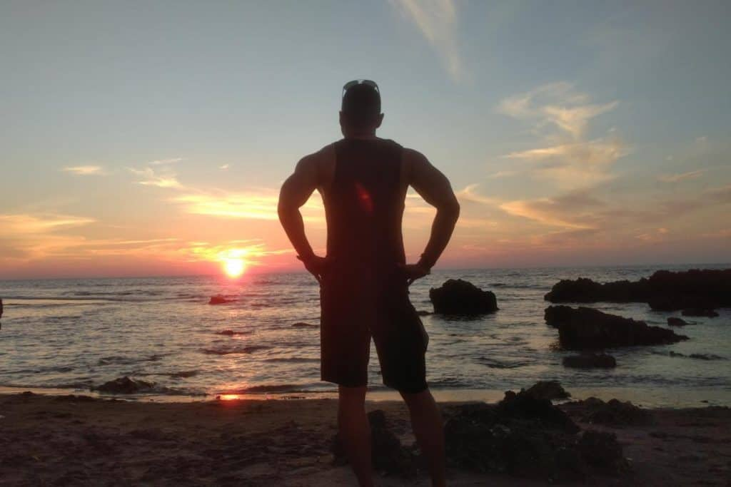 The sunset view of La Union Philippines