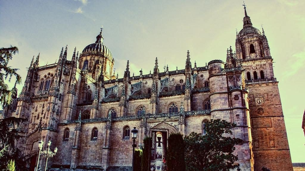 A view of the architecture in Salamanca Spain