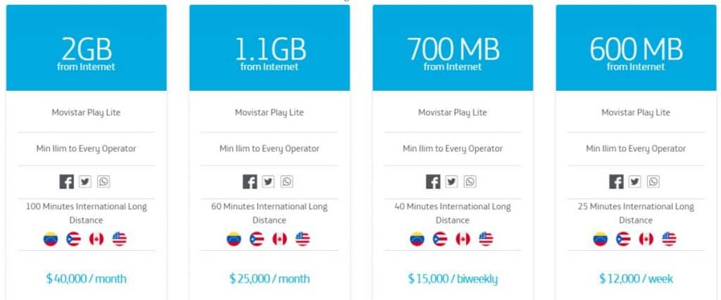 Nomadic FIRE Colombia Movistar Price List