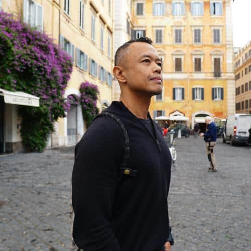 Marco Sison in Rome Italy