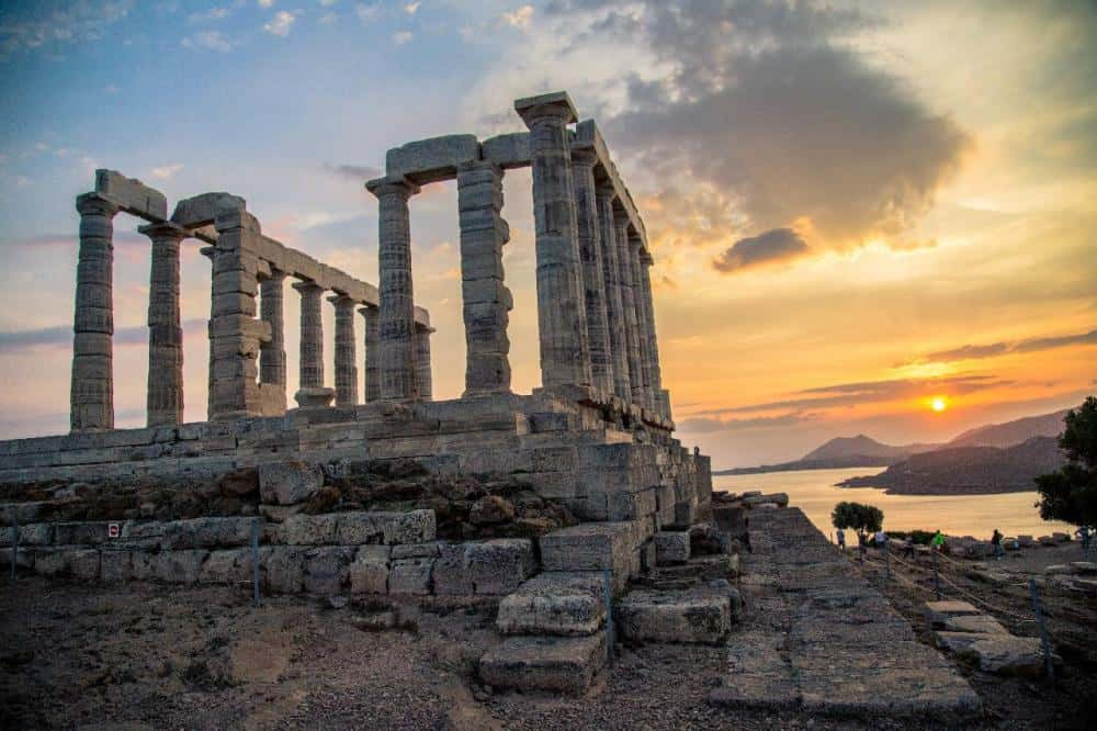 Nomadic FIRE Greece Athens Temple of Poseidon